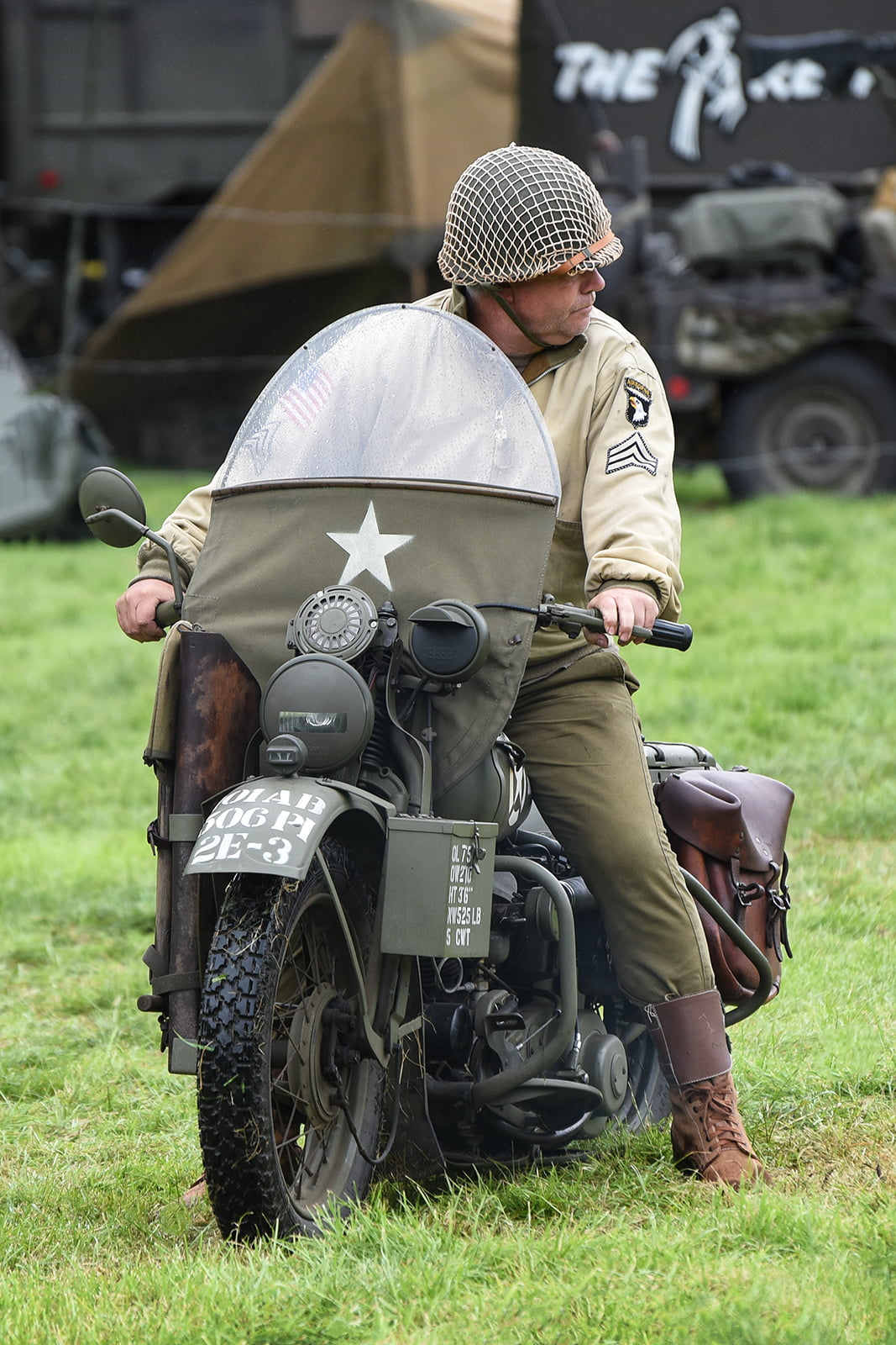 Re-enactor at Capel Military Show