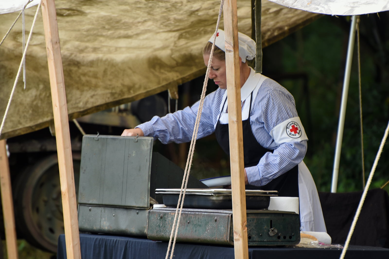 War time nurse re-enactor at Capel Military Show
