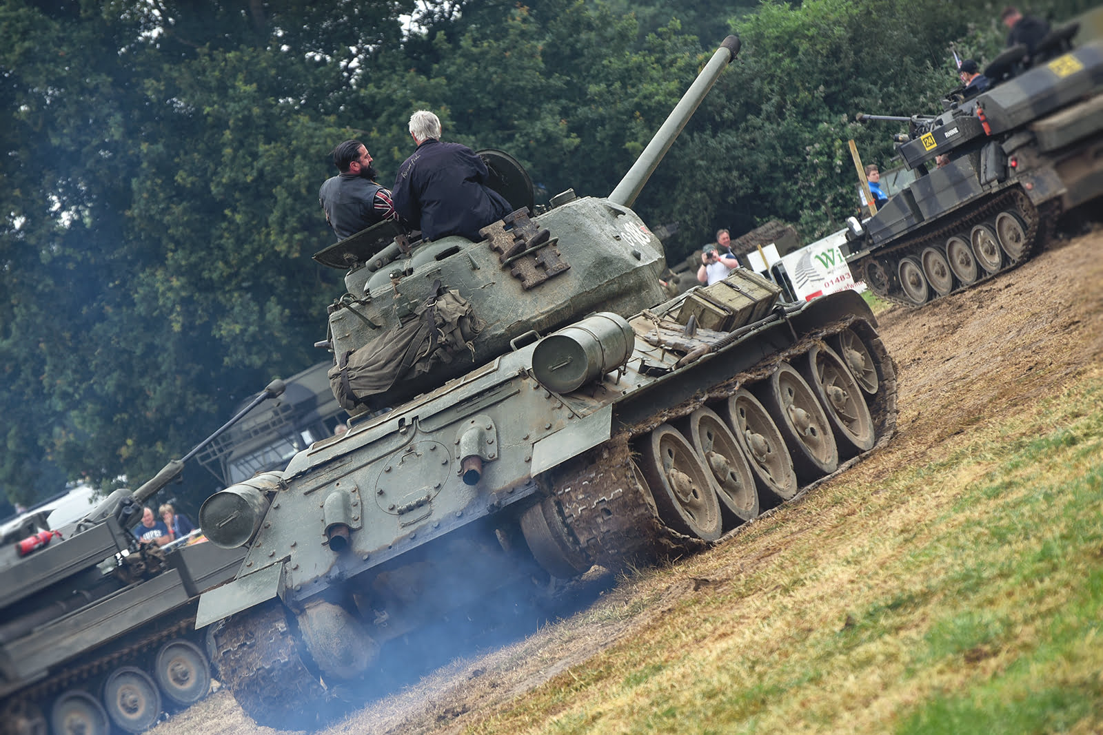 Tank being driven at Capel Military Show