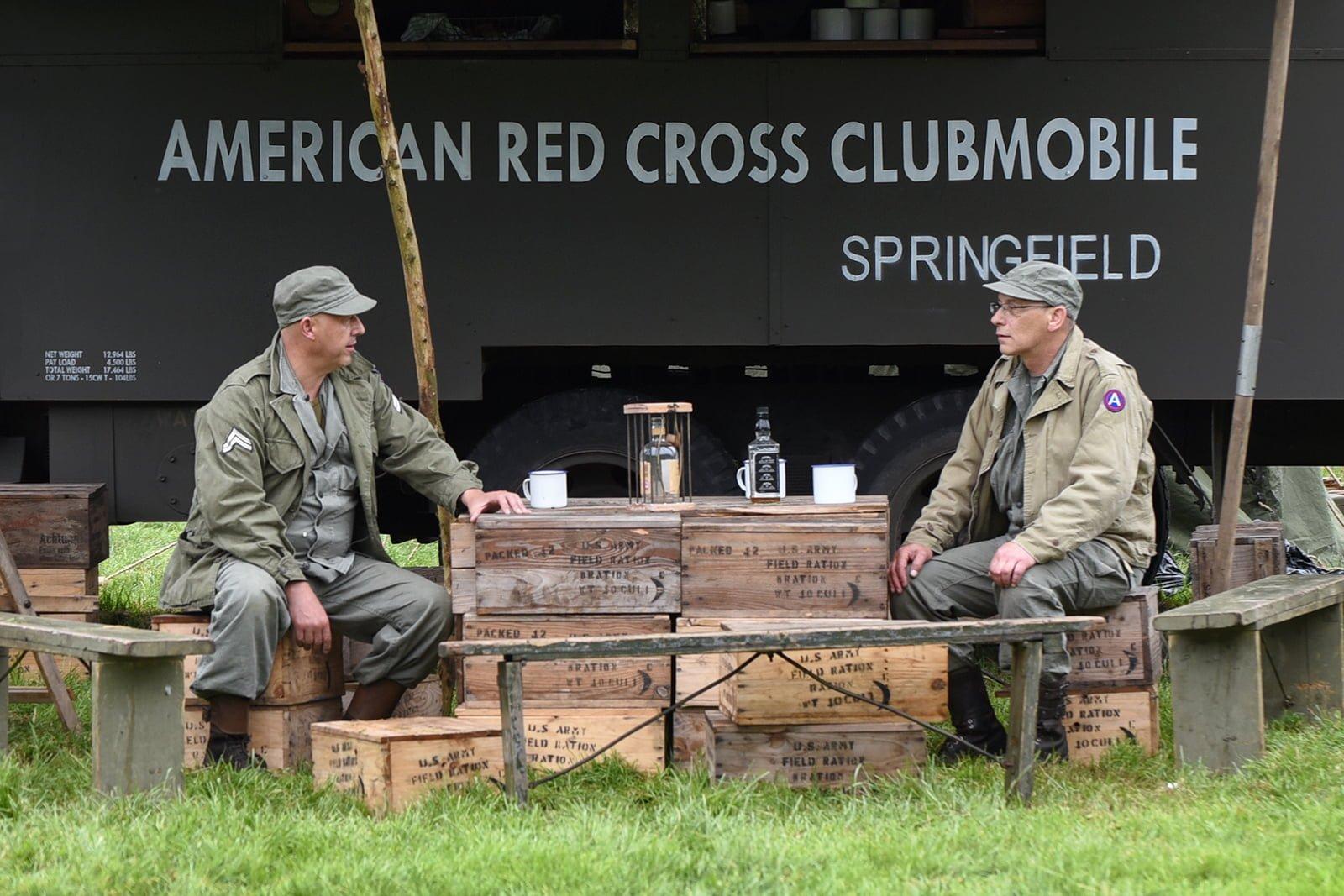 Re-enactors at Capel Military Show