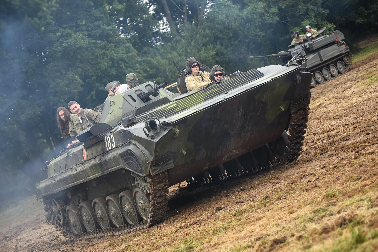 Tracked vehicle at Capel Military Show