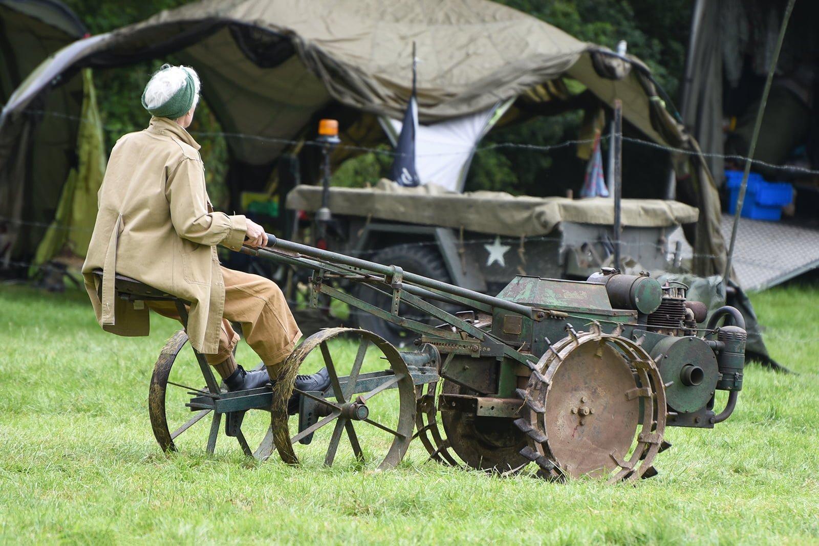 War time farm equipment demo at Capel Military Show