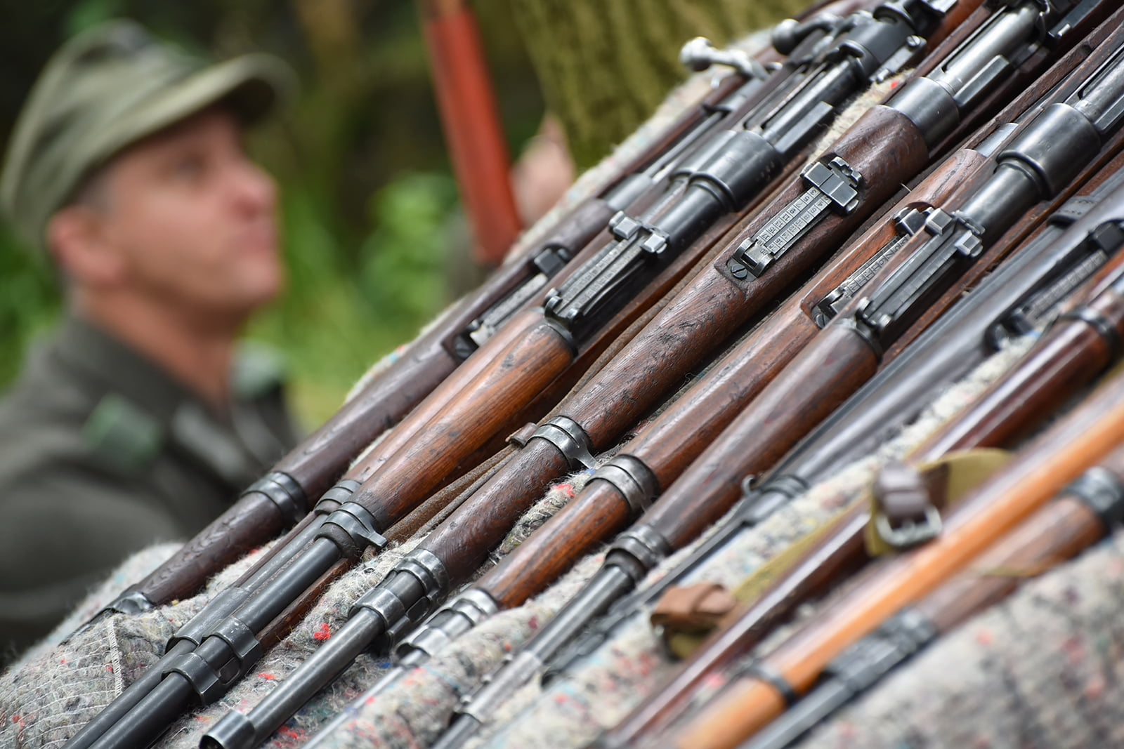 Selection of guns at Capel Military Show